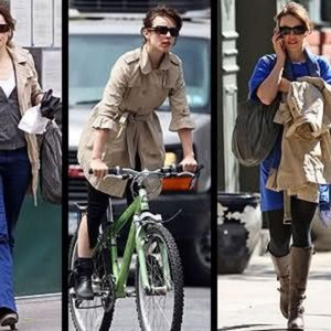 Juicy Couture Khaki trench coat double breasted